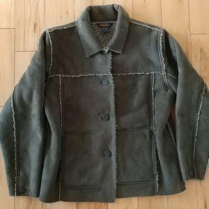 Woolrich Faux Suede Barn Coat Jacket